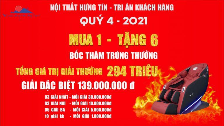 """CHƯƠNG TRÌNH TRI ÂN KHÁCH HÀNG QUÝ 4""""KHUYẾN MẠI LỚN NHẤT TRONG NĂM 2021"""""""
